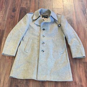 VTG men's wool blend military style coat size 42